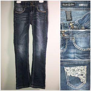 Vanilla Star Slim Bootcut Kid's Lace Pocket Jeans